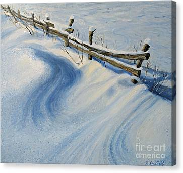 Ice Glitter Canvas Print by Kiril Stanchev