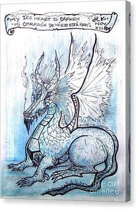 Ice Heart Canvas Print by Koral Garcia