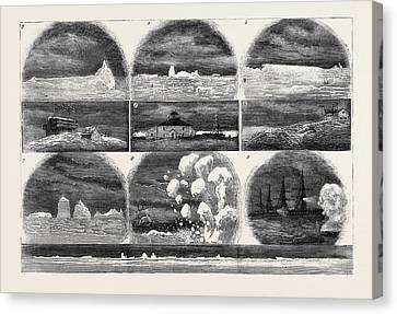 Ice In The Atlantic Ocean 1. Iceberg One Mile Canvas Print by English School