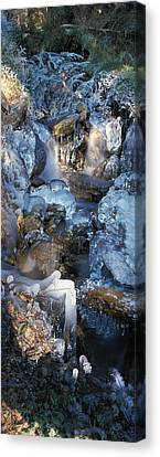 Ice Is Encrusting A Waterfall Canvas Print by Ulrich Kunst And Bettina Scheidulin