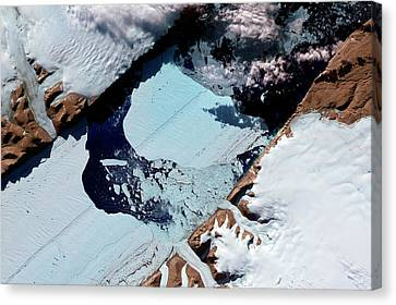 Ice Island From Petermann Glacier Canvas Print by Nasa