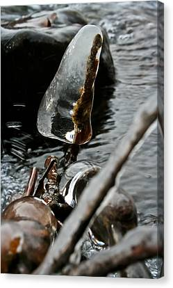 Canvas Print featuring the photograph ICE by Joel Loftus