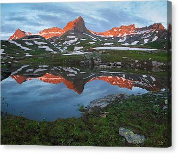 Ice Lakes Alpenglow Canvas Print by Aaron Spong
