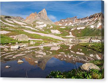 Snow Melt Canvas Print - Ice Lakes Reflection by Aaron Spong