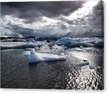 Ice Canvas Print by Michael Fitzpatrick