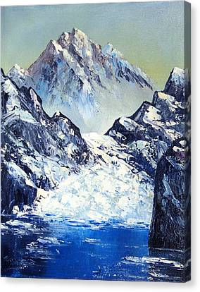 Ice On The Rocks Canvas Print by Kenny Henson