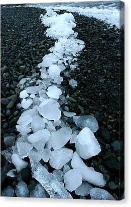 Canvas Print featuring the photograph Ice Pebbles by Amanda Stadther