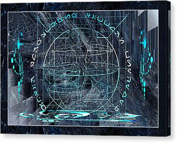 Canvas Print featuring the photograph Ice Planet Glyph by Robert Kernodle