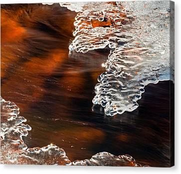Ice Sculpting  Canvas Print