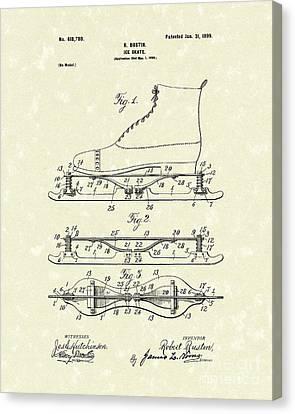 Ice Skate 1899 Patent Art Canvas Print