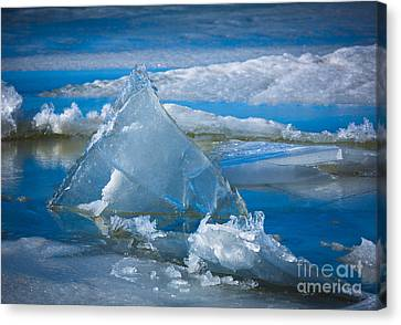 Ice Triangle Canvas Print by Inge Johnsson