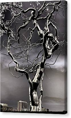 Ice Veins In The Sky Canvas Print by Joenne Hartley