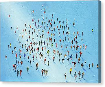 Ice Walking Canvas Print