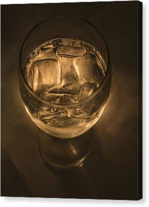 Ice Water By Candle Light Canvas Print by Angela A Stanton