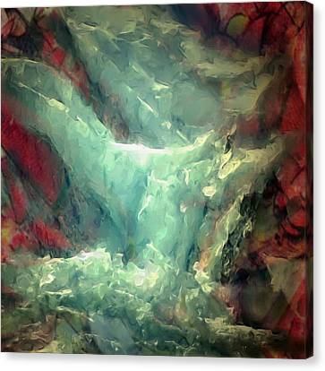 Ice Waterfall Canvas Print by Danielle Arnal