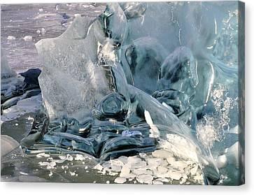 Iceberg Detail - Mendenhall Lake Canvas Print