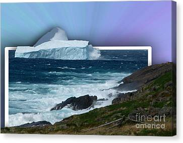 Iceberg Escape Canvas Print by Barbara Griffin