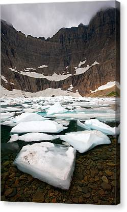 Canvas Print featuring the photograph Iceberg Lake by Aaron Whittemore