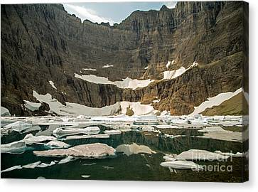Iceberg Lake Canvas Print by Natural Focal Point Photography