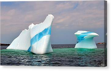 Iceberg Off The Coast Of Newfoundland Canvas Print by Lisa Phillips