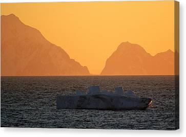 Iceberg Ship Canvas Print by DerekTXFactor Creative