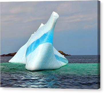 Iceberg Up Close Off Newfoundland Canvas Print