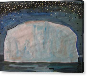 Canvas Print featuring the painting Iceberg by Vikram Singh
