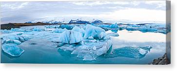 Icebergs Floating In Glacial Lake Canvas Print by Panoramic Images