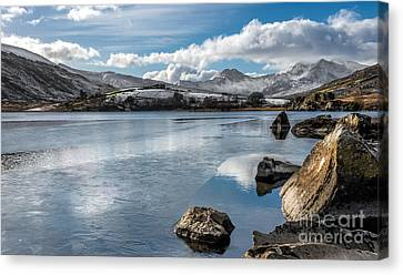 Iced Over Canvas Print by Adrian Evans