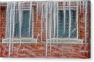Iced Over Canvas Print by Steve Ohlsen