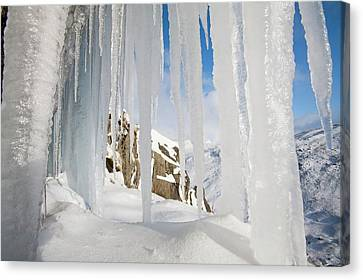 Icefall Canvas Print by Ashley Cooper