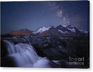 Icefields At Night Canvas Print by Dan Jurak