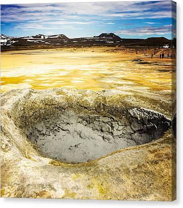Landscape Canvas Print - Iceland Geothermal Area Hverir Namaskard by Matthias Hauser
