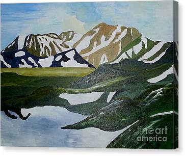 Iceland Mountains Canvas Print