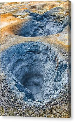 Iceland Natural Abstract Mudpot And Sulphur Canvas Print by Matthias Hauser