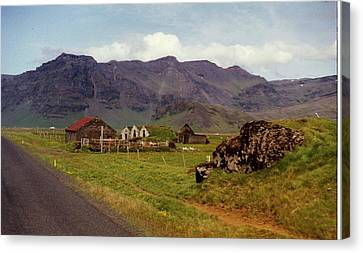 Canvas Print featuring the photograph Icelandic  Cottage by Debra Kaye McKrill