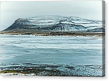 Icelandic Winter Landscape Canvas Print