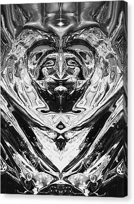 Canvas Print featuring the photograph Iceman Cometh by John  Bartosik