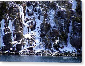 Canvas Print featuring the photograph Icicle House by Barbara Griffin