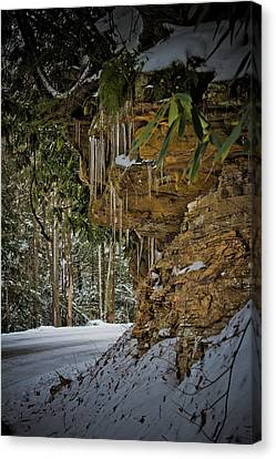 Icicles In Wv Canvas Print