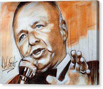 Icon Frank Sinatra Canvas Print by Gregory DeGroat