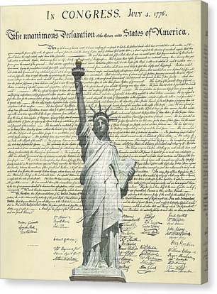 Icon Of Freedom Canvas Print by Charles Beeler