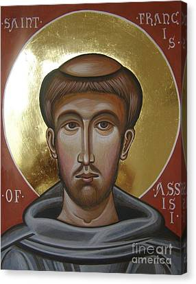 Icon Of St Francis Of Assisi Canvas Print by Peter Murphy