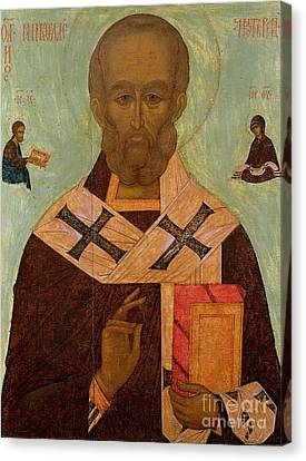 Icon Of St. Nicholas Canvas Print by Russian School
