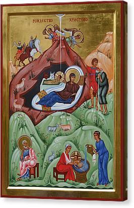 Icon Of The Nativity Of Christ Canvas Print by Phil Davydov and Olga  Shalamova