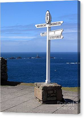 Kernow Canvas Print - Iconic Lands End England by Terri Waters