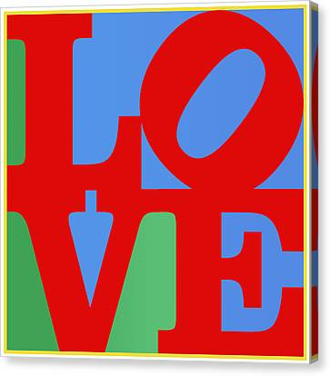 Iconic Love Canvas Print