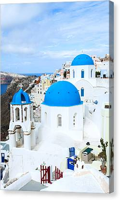 Iconic Oia - Santorini - Greece Canvas Print by Matteo Colombo