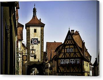Iconic Rothenburg Canvas Print by Joanna Madloch