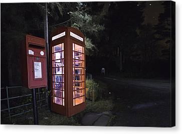 Iconic Uk Phone Box  Canvas Print